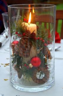 arranjos natalinos ou centros de mesa