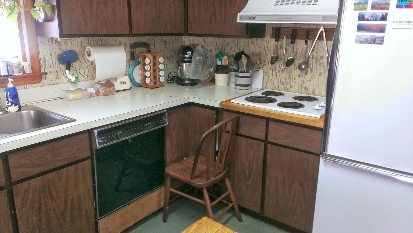 Affordable Kitchen Countertops Unfinished Pantry Two Different Color Counters Nice Home Design