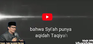 Aqidah Taqiyah Orang Syiah - Ceramah Pendek Ustadz Amin Muchtar [Video]