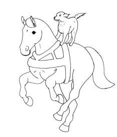malvorlagen zum ausmalen: pferde zum ausmalen: malvorlage