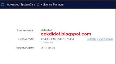 Download Iobit Advanced SystemCare Pro 11 Gratis Crack License Key