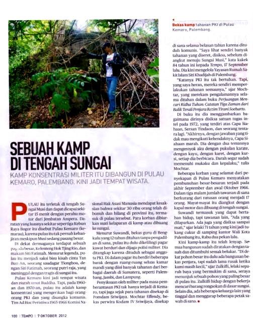 Situs Genosida Sumatera Selatan  Pulau Kemaro dan Sungai Musi 2097a18285