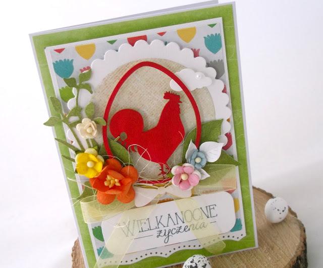 Kolorowe wielkanocne kartki hand made ;)