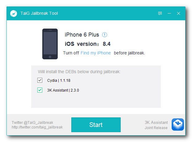 TaiG released the updated iOS 8.4 jailbreak for error correction [Link]