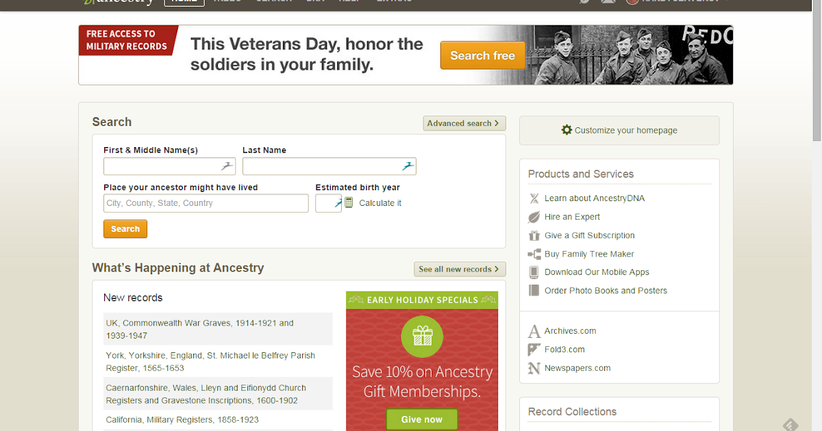 genea musings new ancestry com home screen and banner
