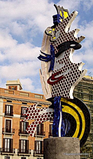 Escultura de Roy Lichtenstein na Barceloneta