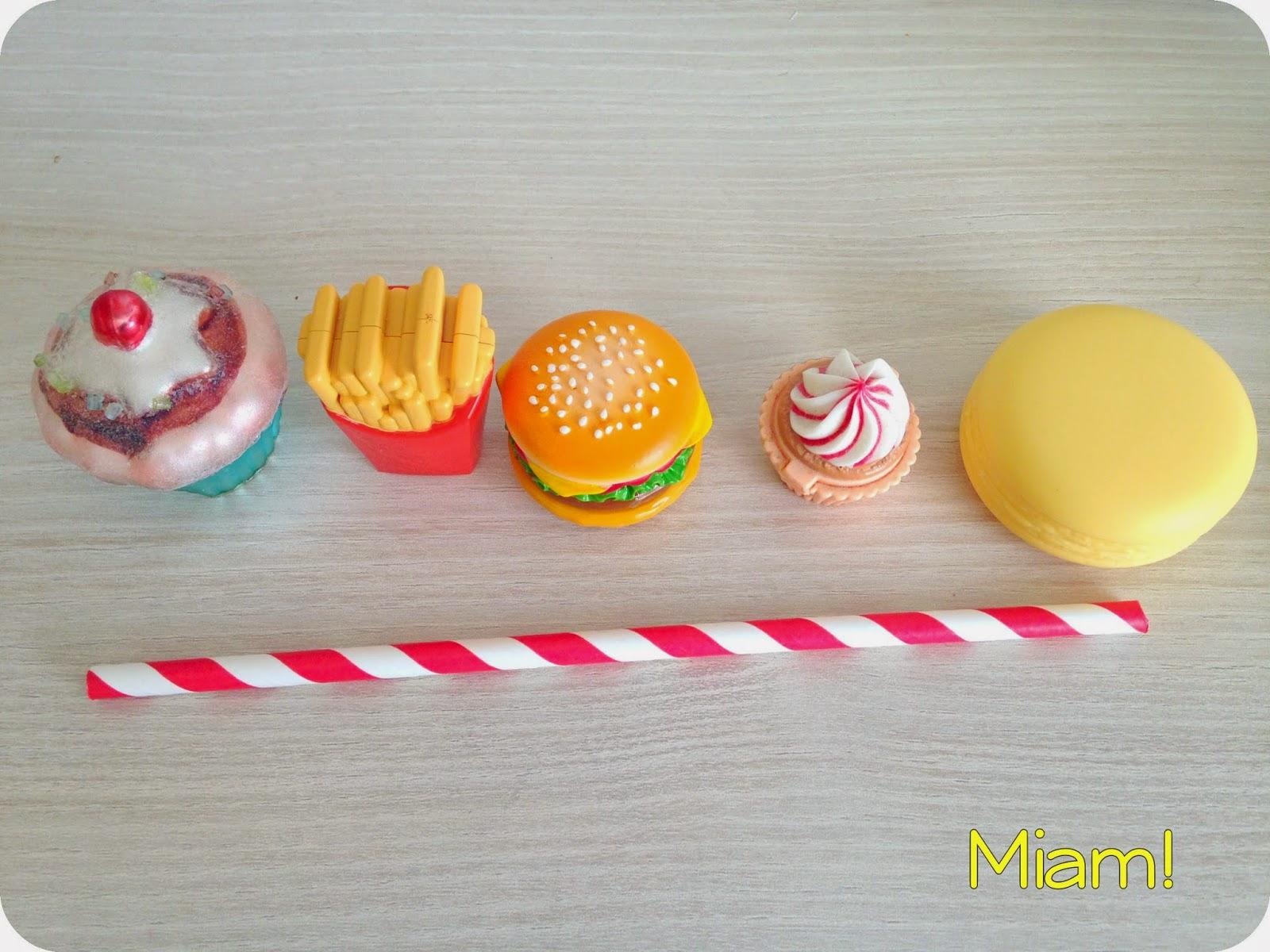 baumes à lèvres frites burger macaron cup cake cute mignon