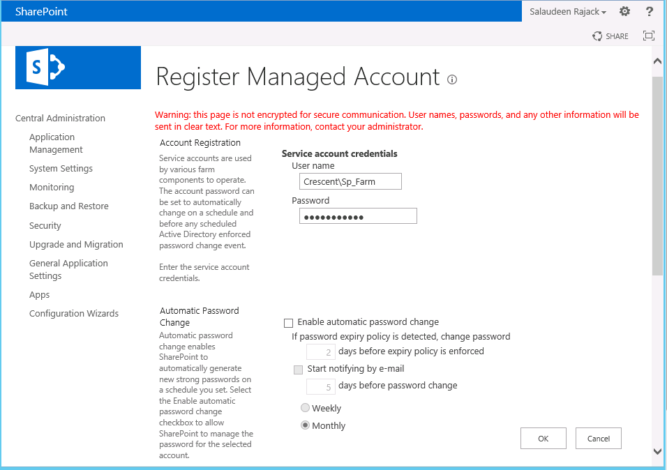 add managed account sharepoint 2013