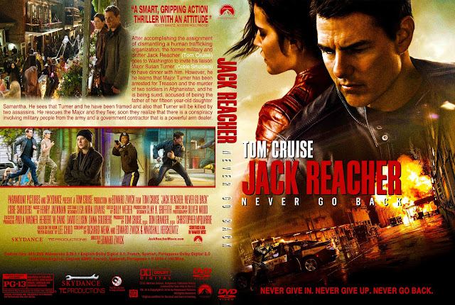 Jack Reacher Never Go Back DVD Cover