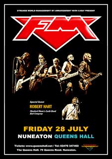 FM / Robert Hart - Nuneaton Queens Hall - 28 July 2017 - poster