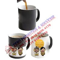 Souvenir Mug Bunglon / Ajaib / mug berubah warna