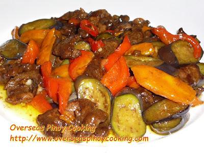 Beef and Eggplant Stirfry