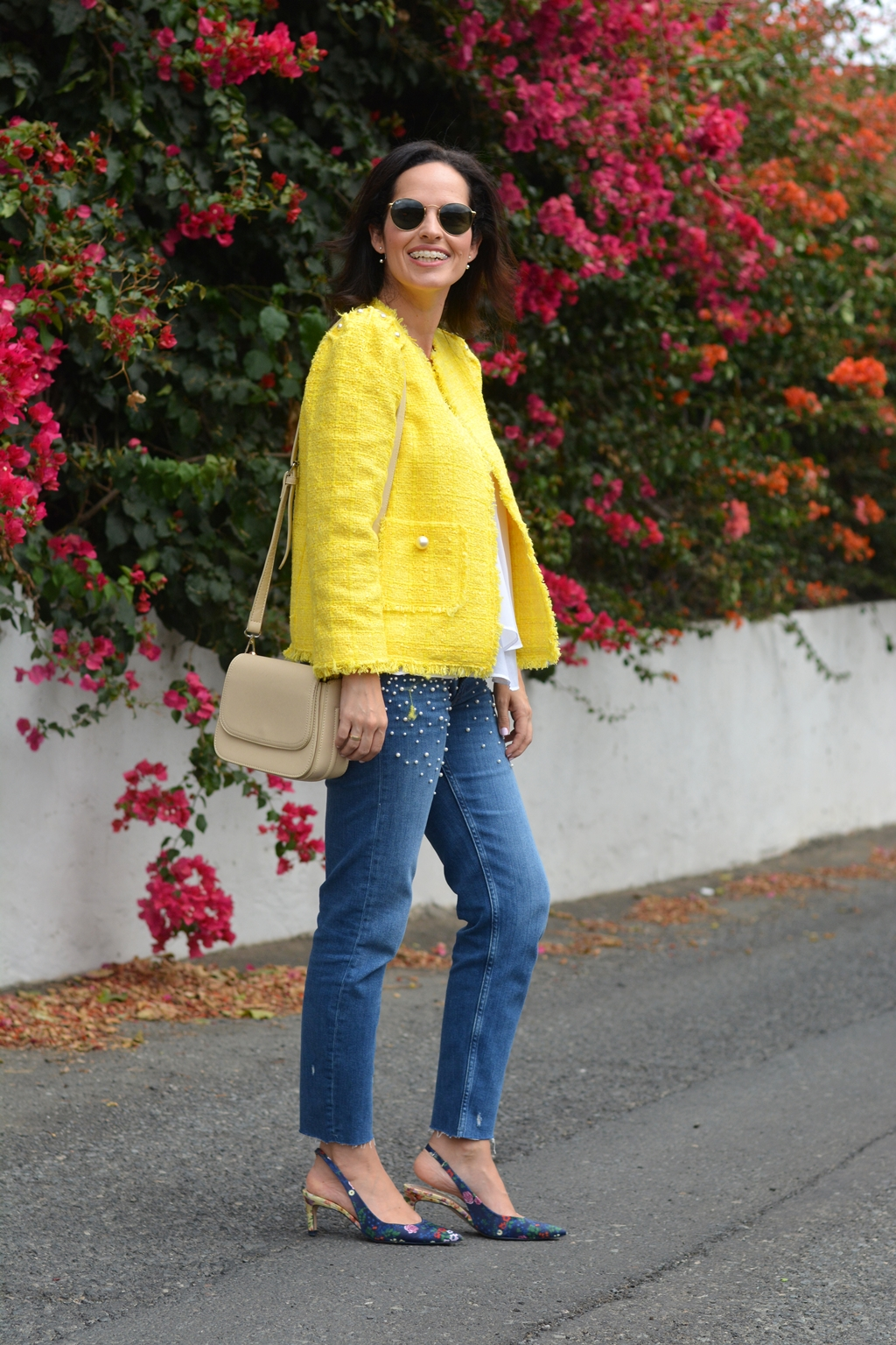 zara-yellow-tweed-jacket-streetstyle