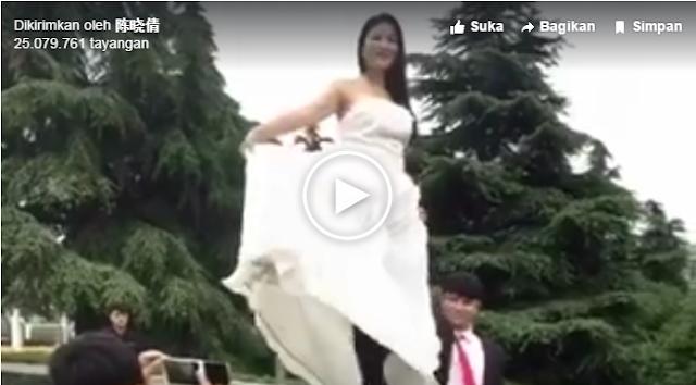 Innalillahi.. Prewedding yang Berakhir Petaka, Ratusan Ribu Akun FB Bagikan Video Ini