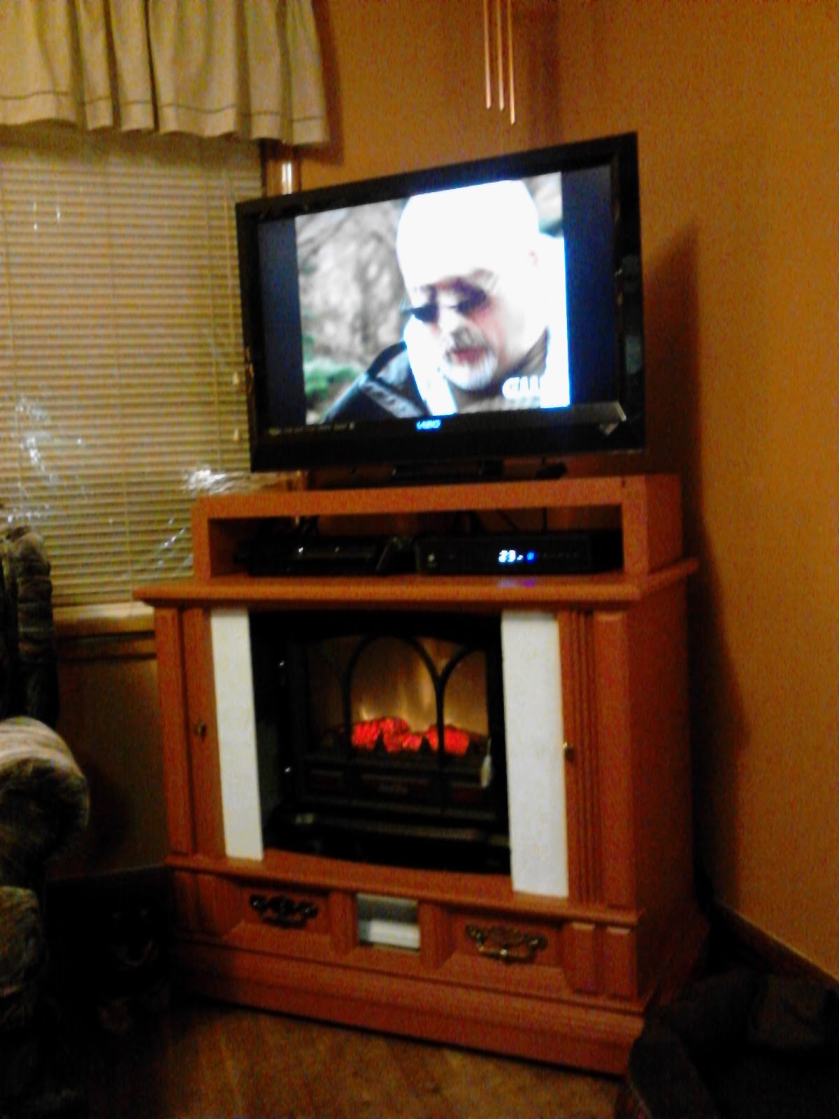 My Blog Repurpose Old Tv Console To Fireplace Media Center