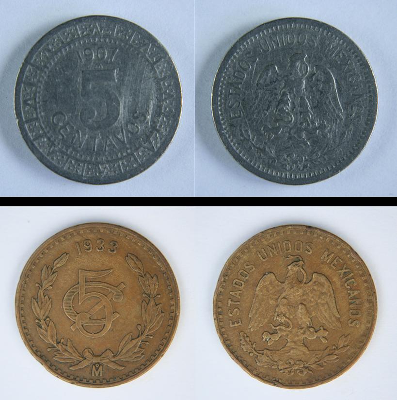 Calendario 1936.Monedas De Mexico 5 Centavos Calendario Azteca 1936 A 1942