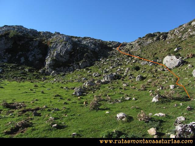 Ruta Ercina, Verdilluenga, Punta Gregoriana, Cabrones: Camino a las Camperas de Haces