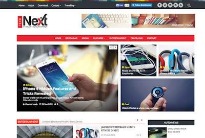 Tech-Next Blogger Template.