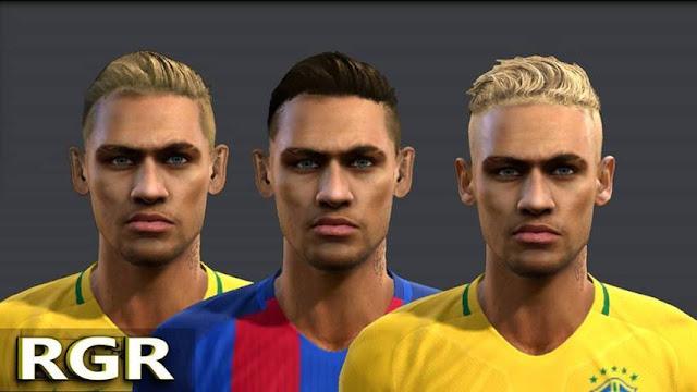 PES 2013 Neymar JR New Hair Style