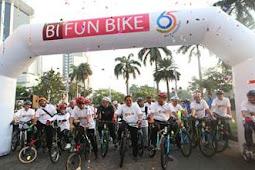 Sukseskan Asian Games, BI dan Sejumlah Lembaga Gowes Bareng