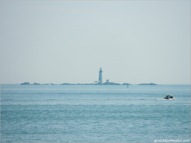 Vista del Boston Light desde Spectacle Island