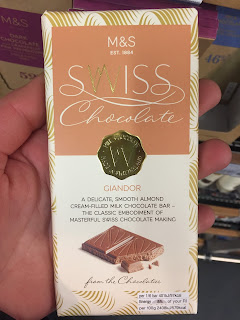 marks spencer Swiss Chocolate Giandor bar