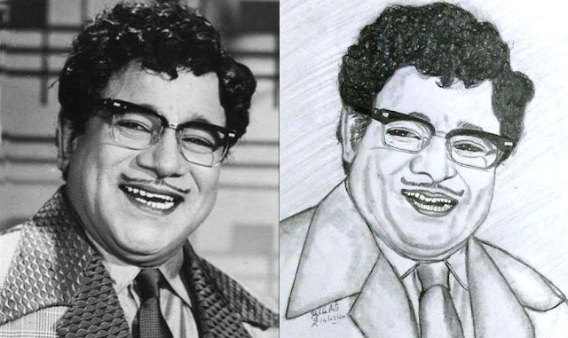 PENCIL DRAWING  - ACTOR M. R. Radha