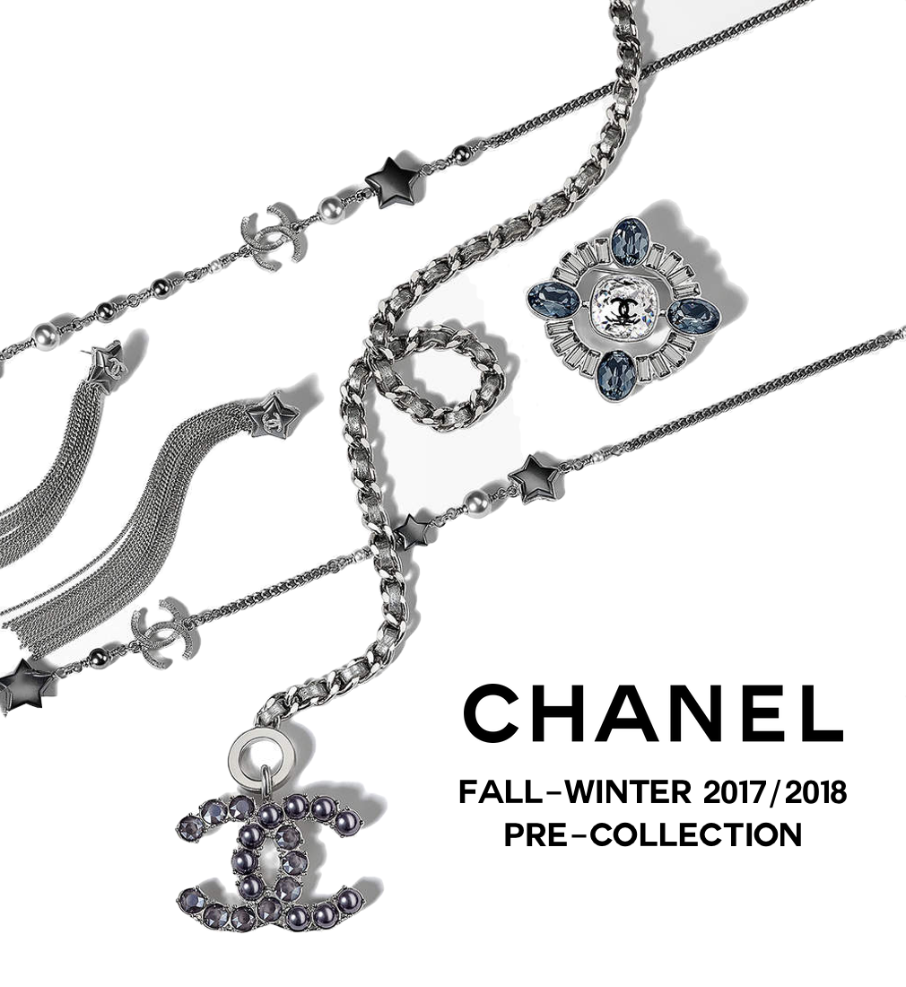 chanel i multi rare necklace silver gripoix black chains charm beads cc