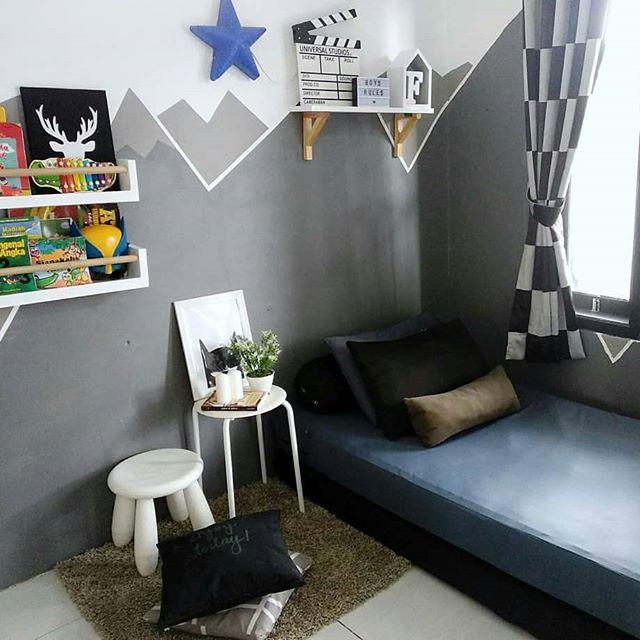 21+ Lukisan Dinding Kamar Anak Muda Hitam Putih - Romi Gambar