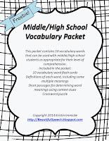 https://www.teacherspayteachers.com/Product/MiddleHigh-School-Vocabulary-Packet-1388492