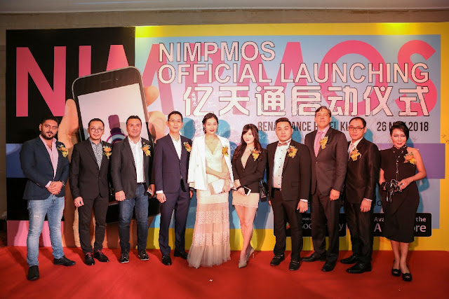 Nimpmos Mobile App, First Blockchain, Live Broadcast, e-Commerce, Malaysia