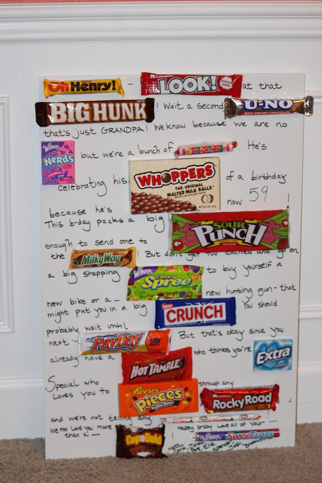 create it dabble candy bar card