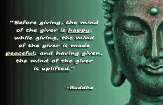 Buddha quotes about giving for happiness and a peaceful mind