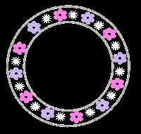 Plaquinha cute floral - Criação Blog PNG-Free