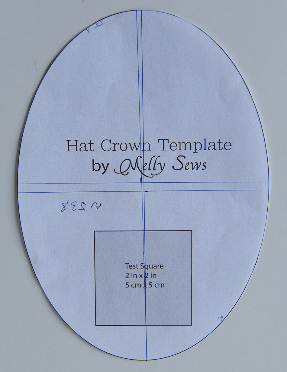 Tutorial how to make your own easy wide brimmed summer sun hats crown template pattern