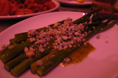 Los Angeles, The Stinking Rose, asparagus blue cheese