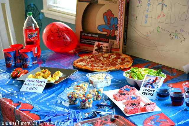 Our Amazing SpiderMan Party Mom On Timeout