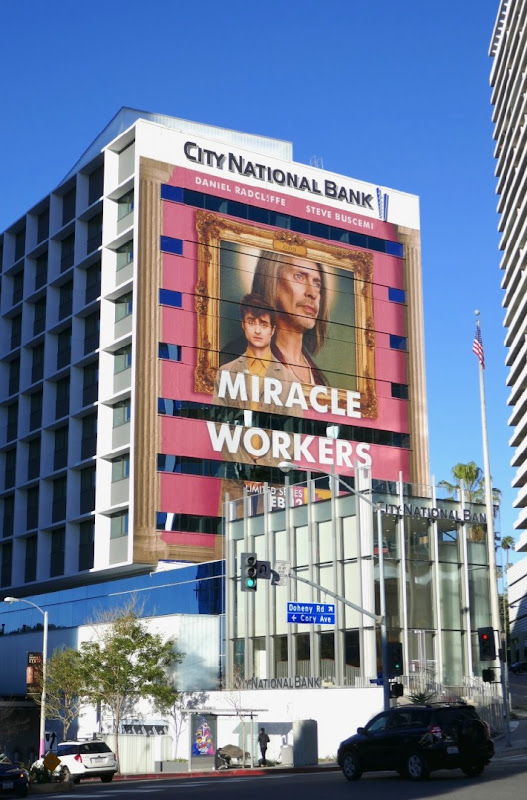 Giant Miracle Workers series premiere billboard