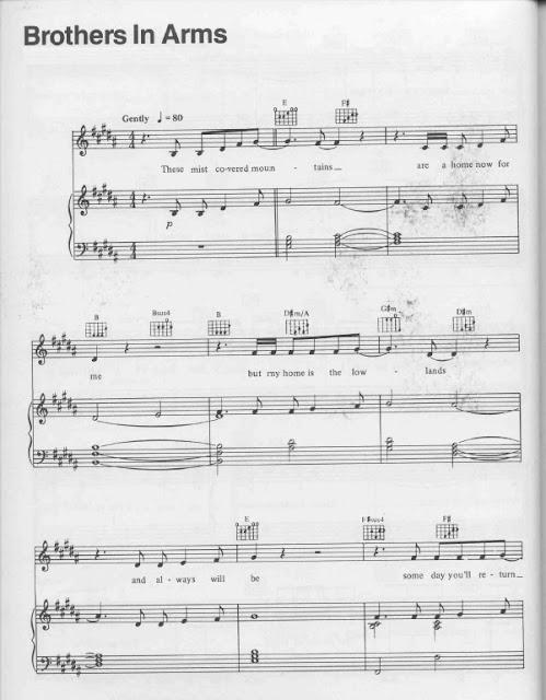 Partitura Piano Dire Straits