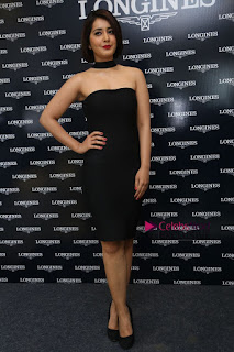 Actress Raashi Khanna Pictures in Black Dress at Longines Watches Launch  0216.JPG