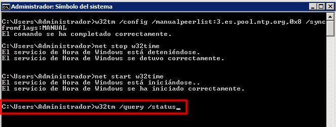 w32tm /query /status