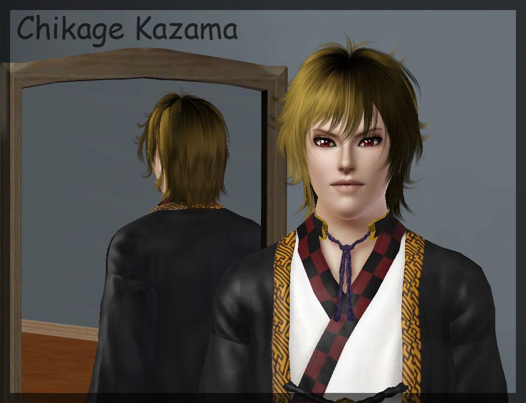 Sims 3 Anime Characters : Ng sims chikage kazama hakuouki anime