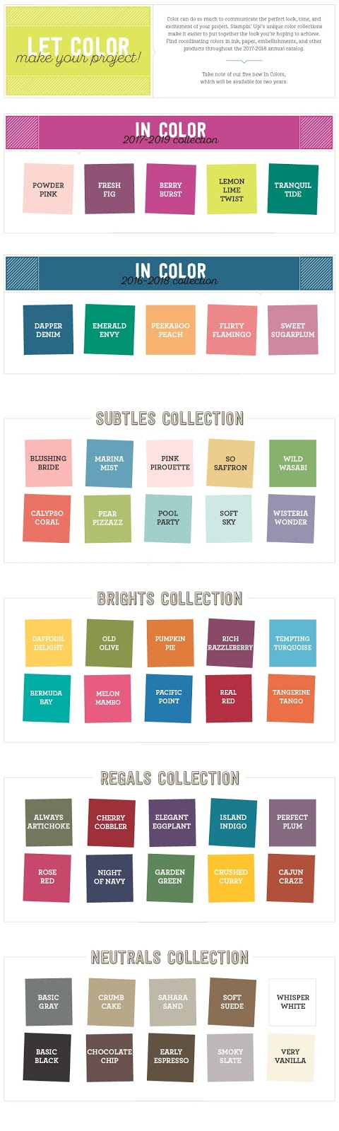 Take a look at the Stampin' Up! colour families