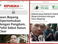 Nah Lo, Polda Udah Pertemukan TNI & Iwan Bopeng? Dibantah TNI: Tidak ada Pertemuan