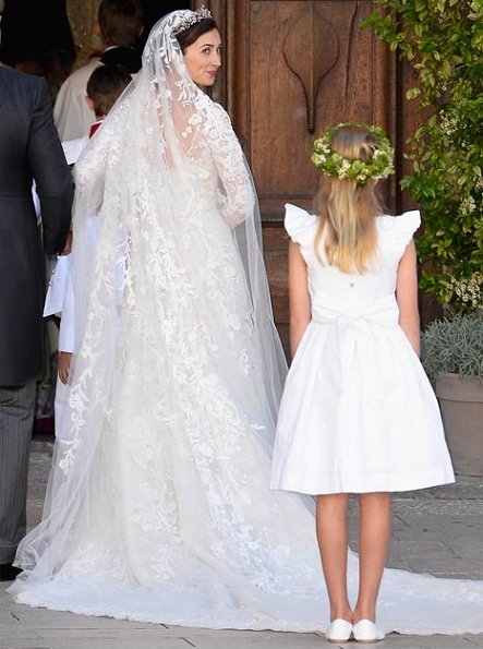 Princess Claire of Luxembourg was picture-perfect in a stunning wedding gown by Elie Saab