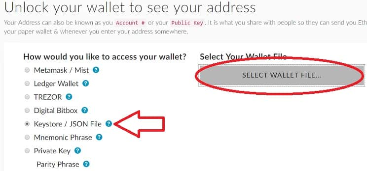 Abrir monedero Ether Wallet Ethereum DENT