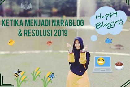 Ketika Menjadi Narablog dan Resolusi 2019