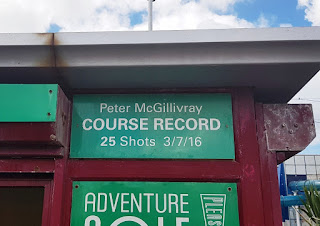 The course record at Blackpool Pleasure Beach Adventure Golf