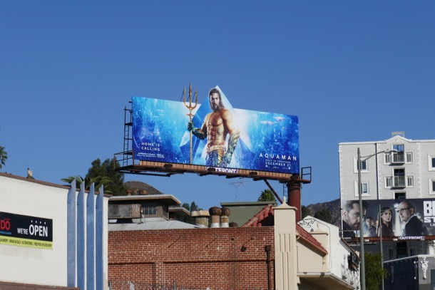 Aquaman extension cut-out billboard