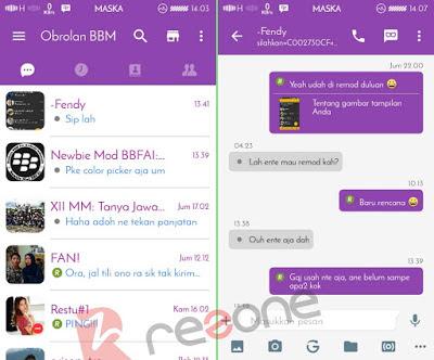 Download BBM Mod Simple Purple v1.1.7 Base v2.13.0.26 Apk